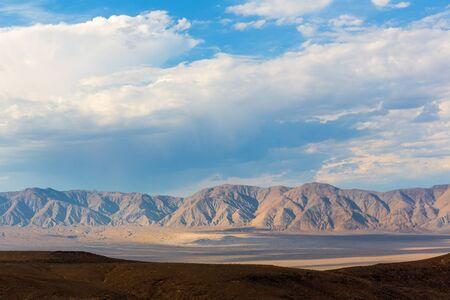 Mountains of Death Valley at cloudy day