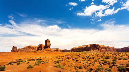 Sandstone landscape of Monument Valley Stock Photo