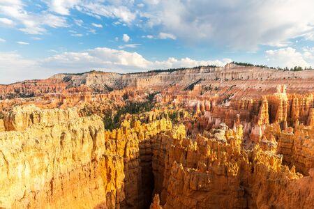 pinnacle: Sandstone mountains at Bryce Canyon National Park