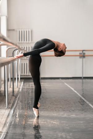 ballerina tights: Elegant ballet dancer rehearsal in class
