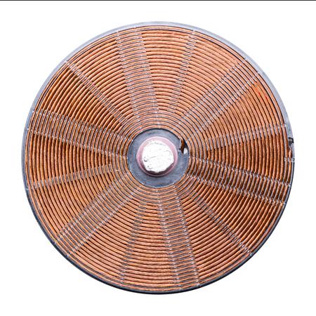Induction heater copper elements closeup