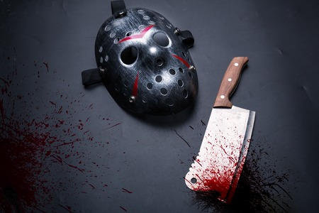 vindictive: Serial murderer tools isolated on black background Stock Photo