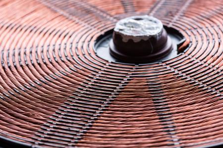 Induction heater copper coil closeup