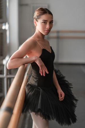 resting: Female ballet dancer resting after rehearsal
