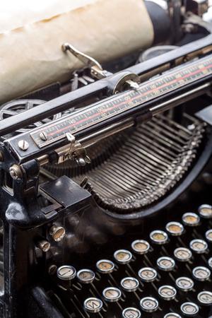 typewrite: Vintage grunge typewriter closeup image