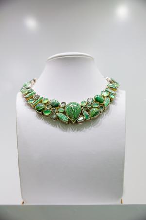 crystal background: Gem stone necklace