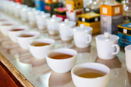 Ceylon tea tasting cups, tourist excursion