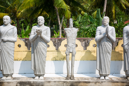shri: Buddha statues in a temple on Ceylon, Shri Lanka Stock Photo