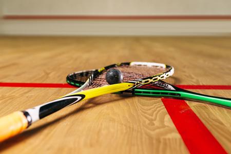 racquetball: Squash game equipment closeup view Foto de archivo
