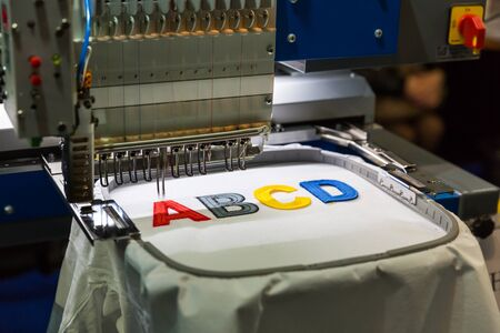 Professional sewing machine embroidery letters