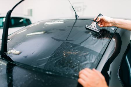 Specialist work, car tinting film installation