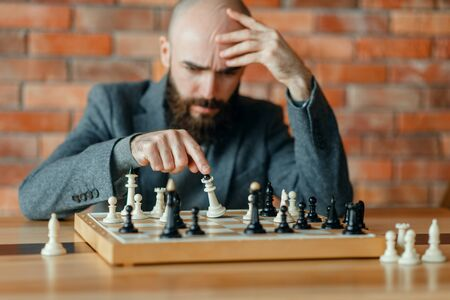 Chess player understood that he lost, checkmate