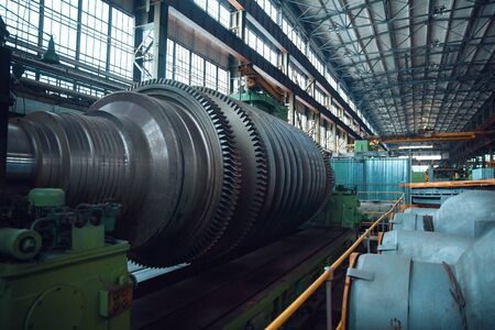 Turbine manufacturing factory, gears, nobody