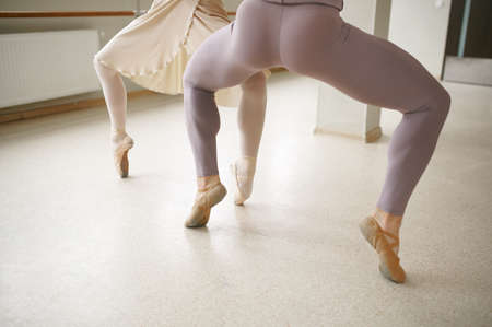 Couple of ballet dancers, repetition in action