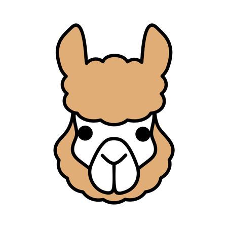 the lama: Lama Illustration