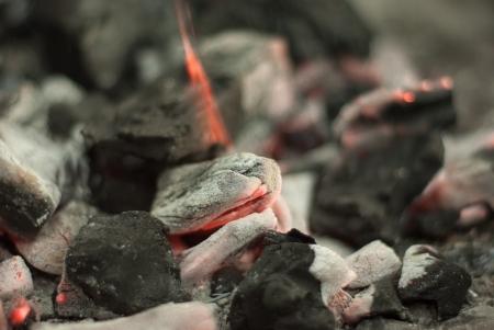 ardent: Un inizio d'incendio con braci ardenti gi� Archivio Fotografico