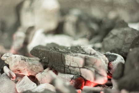 A starting fire with already ardent embers