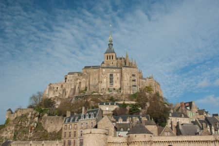 The famous Mont Saint Michel, in France photo