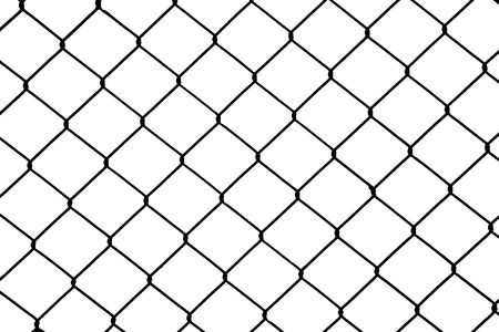 detain: Chain fence silhouetted background