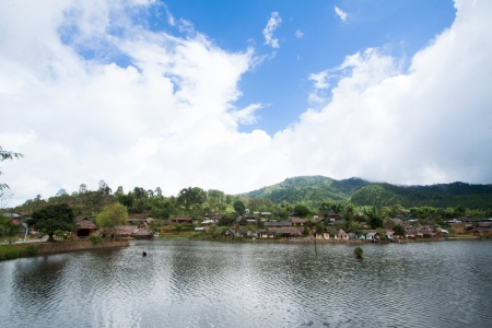 The landscape of Luk Thai village, The traditional Thai-Chainese village  photo