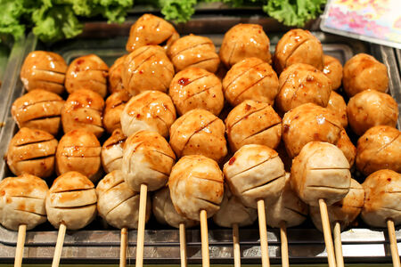 Thai delicious meat ball  photo