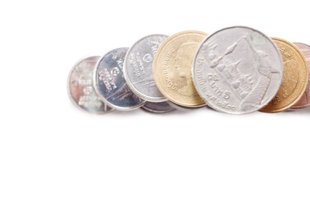 baht: Thai baht coin isolated  Stock Photo