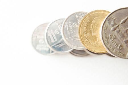 Thai baht coin isolated  photo