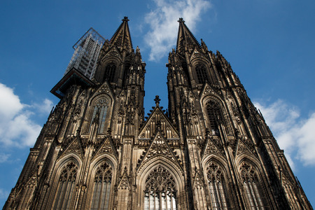 The beautiful angle of Cologne Cathedral  The traditional grand cathedral in Cologne city Germany  photo