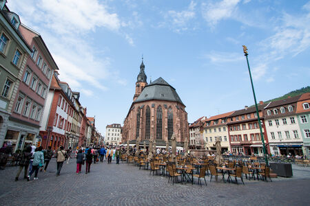 HEIDELBERG,GERMANY- MAY 18  The landscape of Heidelberg city on May 18, 2014 in,Germany