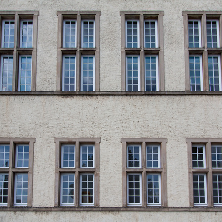 Native windows style in the wall of building  photo