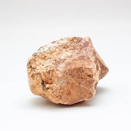 Stone in white background
