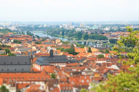 The landscape of Heidelberg city in Germany