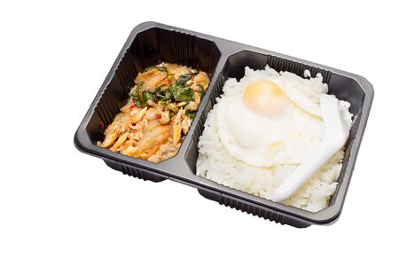 A set of lunch box isolated.