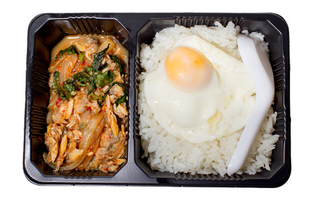 A set of lunch box isolated. photo