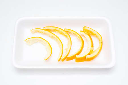peel: Orange peel.