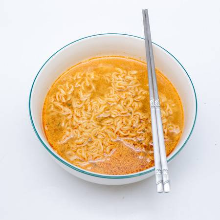 instant noodle: Instant noodle isolated.