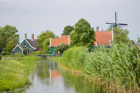 Windmill village in Netherlands. photo