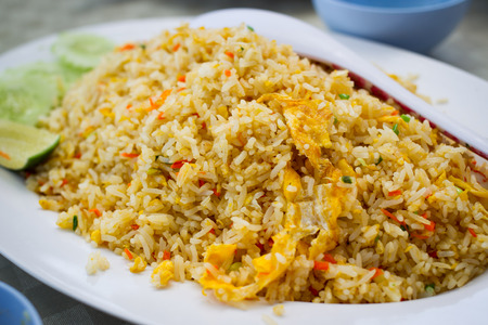 Thai seafood fried rice. photo