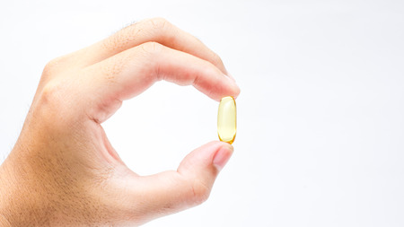 Fish oil capsule. photo