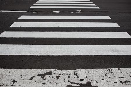 cross walk: Zebra cross walk on asphalt road. Stock Photo