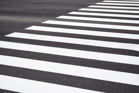 cross walk: Zebra cross walk on asphalt road. Stock Photo