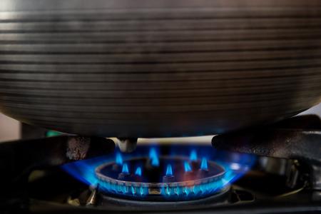 butane: Gas stove close up.