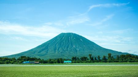 The landscape of Mt.Yotei in Hokkaido Japan.