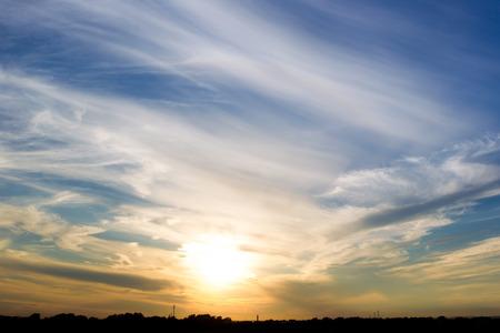 beautiful sky: Beautiful sunset sky and cloud. Stock Photo