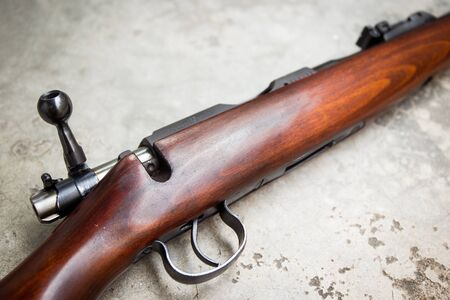 cal: .22 Cal long rifle close up.