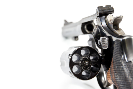 38: Image of .38 Cal Revolver close up isolated.