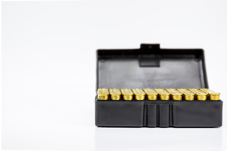 Image of .38 Cal in box isolated.