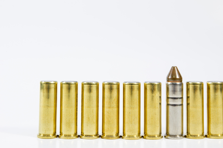 cal: Image of .38 Cal in box isolated.