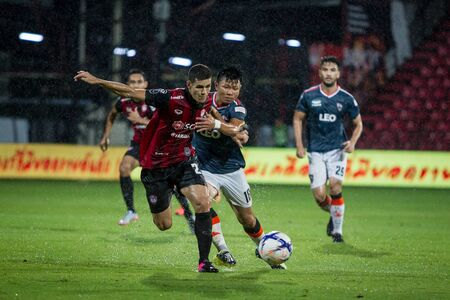 fa: NONTHABURI,THAILAND-SEPTEMBER 23: Cleiton Silva(No.23) Players of SCG Muangthong United in action between the game MTUTD and Chaing Rai UTD in Chang FA Cup 2015 at SCG Stadium on Sep 23, 2015 Editorial