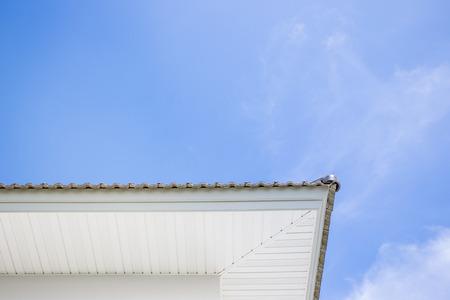 bilding: Roof of modern house. Stock Photo